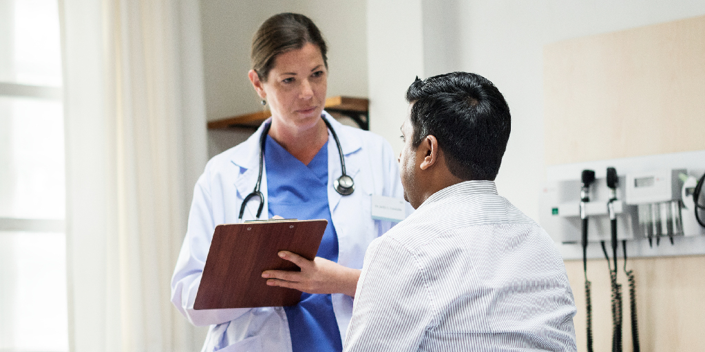 photo of doctor and patient